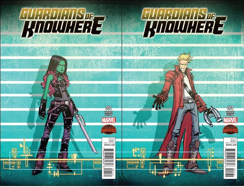 Guardians of Knowhere #1 Skottie Young Gamora and Star-Lord Variants Set [2015] VF/NM Marvel Comics