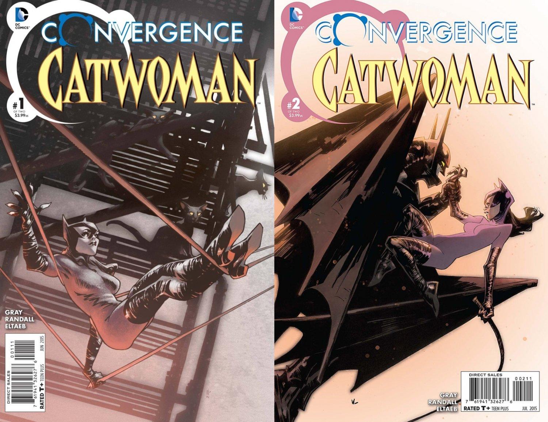 Convergence Catwoman #1 & 2 [2015] VF/NM DC Comics Trade Set
