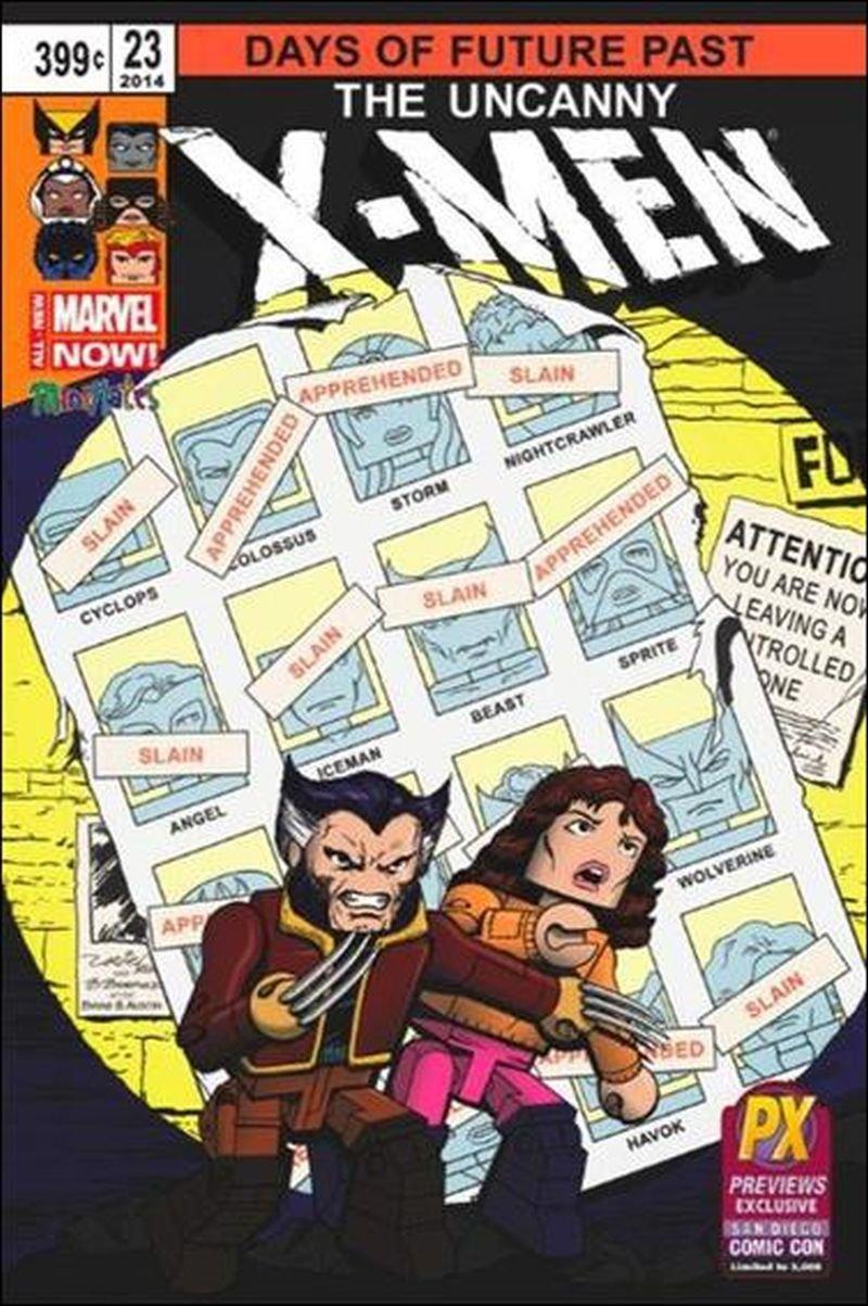 Uncanny X-Men #23 Minimates San Diego Comic Con Previews Exclusive Cover [2014] VF/NM Marvel Comics