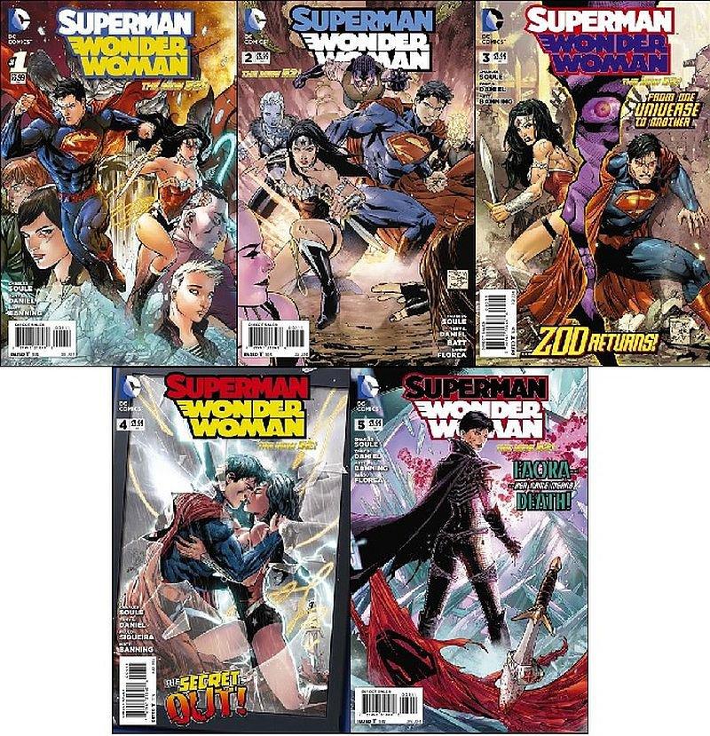 Superman Wonder Woman #1 2 3 4 5 [2014] VF/NM *The New 52*