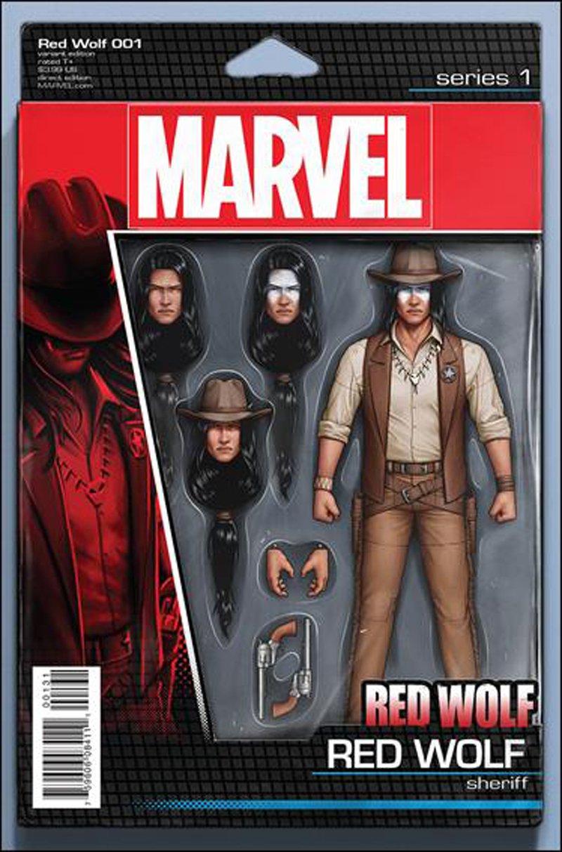 Red Wolf #1 John Tyler Christopher Action Figure Variant Cover [2016] VF/NM Marvel Comics