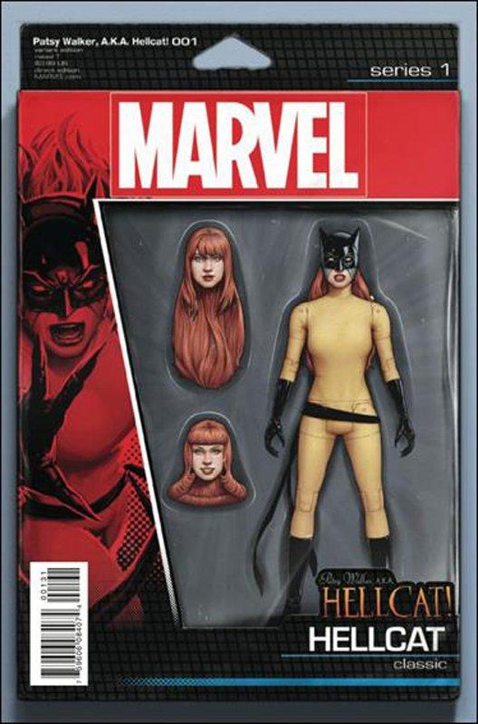Patsy Walker AKA Hellcat #1 John Tyler Christopher Action Figure Cover [2016] VF/NM Marvel Comics