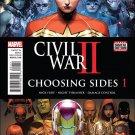 Civil War II: Choosing Sides #1 [2016] VF/NM Marvel Comics