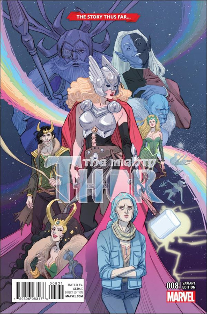 Mighty Thor #8 Marguerite Sauvage Story Thus Far Cover... Variant Cover [2016] VF/NM Marvel Comics