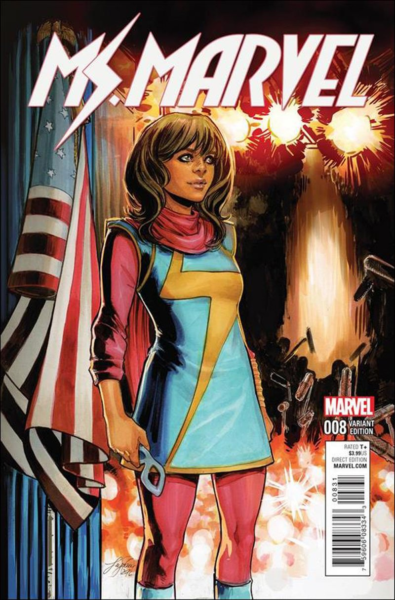 Ms. Marvel #8 Siya Oum Civil War Reenactment Variant Cover [2016] VF/NM Marvel Comics