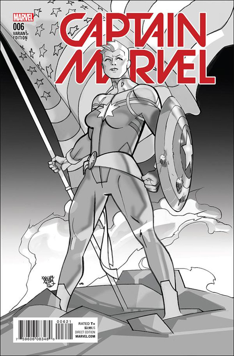 Captain Marvel #6 Pasqual Ferry Variant Cover [2016] VF/NM Marvel Comics