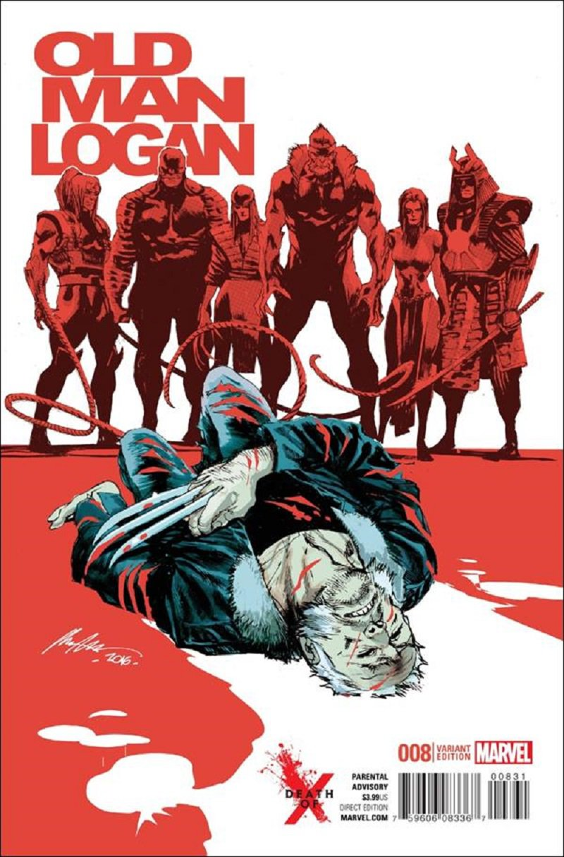 Old Man Logan #8 Rafael Albuquerque Death of X Variant Cover [2016] VF/NM Marvel Comics