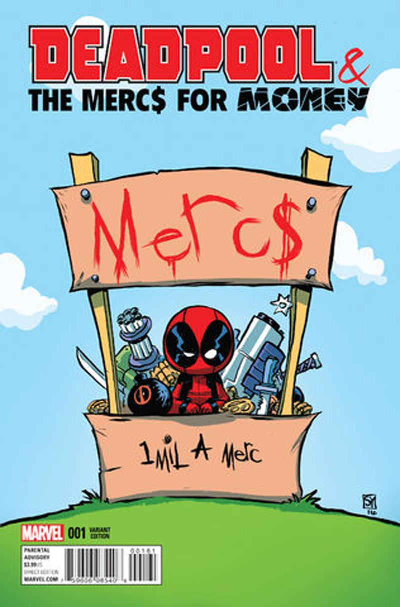 Deadpool & The Mercs for Money #1 (Vol 2) Skottie Young Variant Cover [2016] VF/NM Marvel Comics