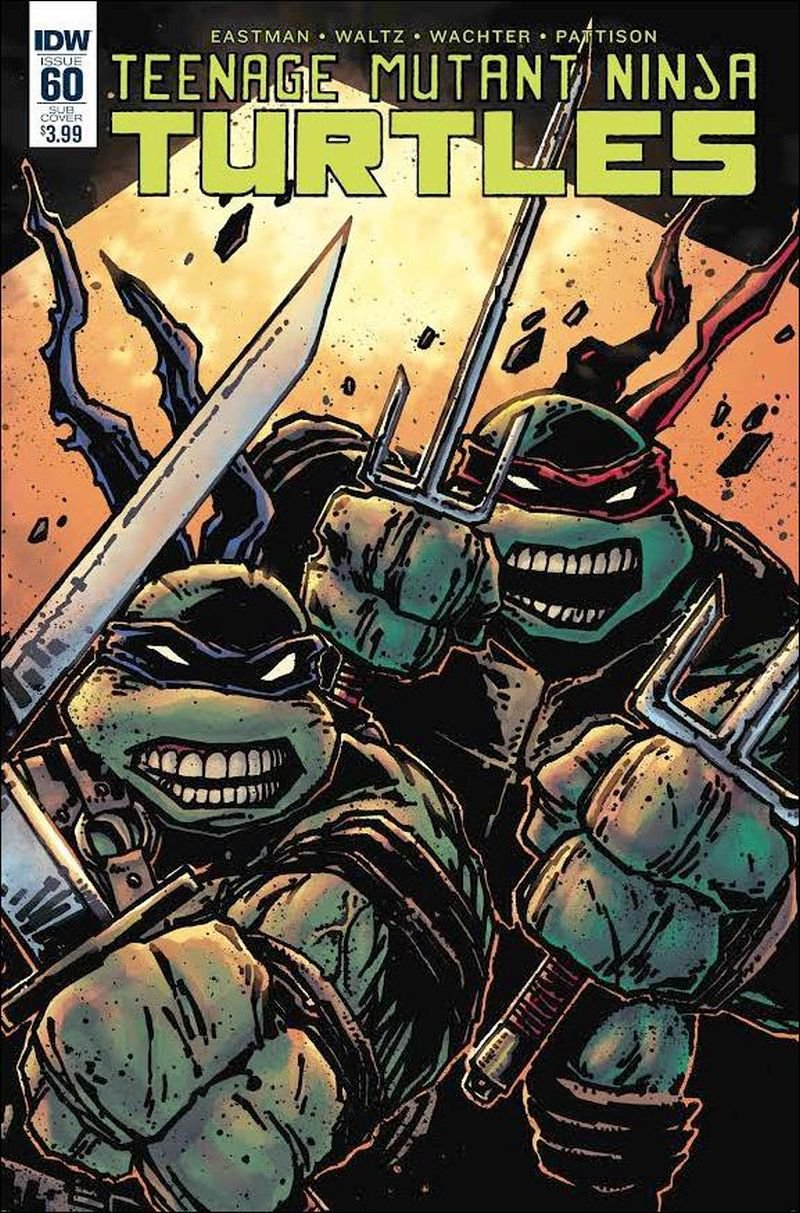 Teenage Mutant Ninja Turtles #60 [2016] Kevin Eastman Subscription Cover VF/NM IDW Comics