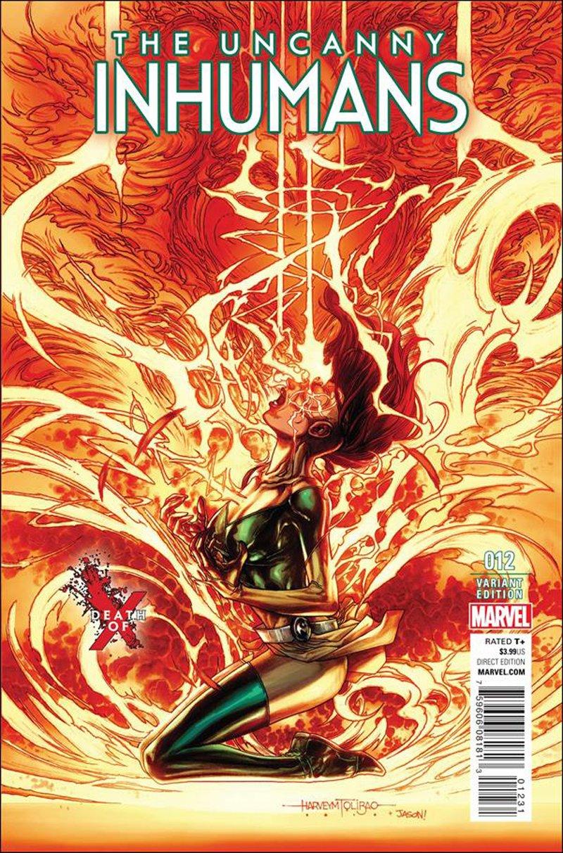 Uncanny Inhumans #12 Harvey Tolibao Death of X Variant Cover [2016] VF/NM Marvel Comics