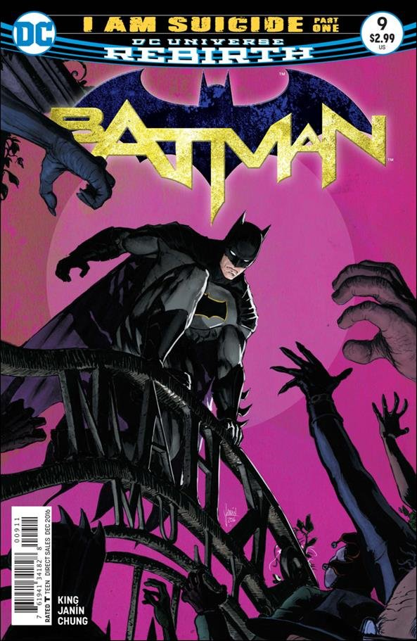 Batman #9  [2016] Mikel Janin Cover  VF/NM DC Comics
