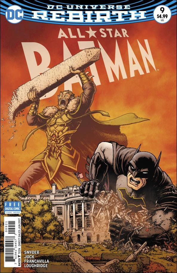 All-Star Batman #9 Chris Burnham Variant Cover [2017] VF/NM DC Comics