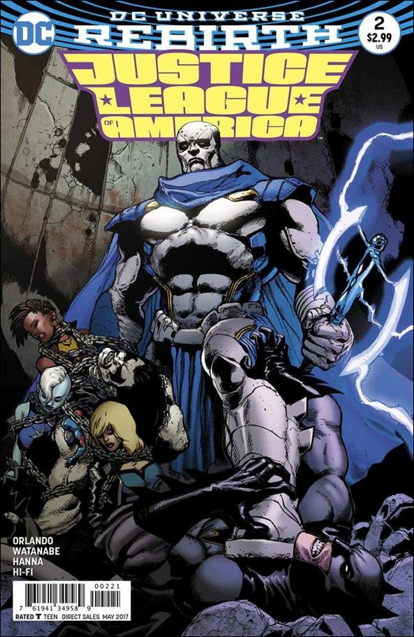 Justice League of America #2 Doug Mahnke Variant Cover [2017] VF/NM DC Comics
