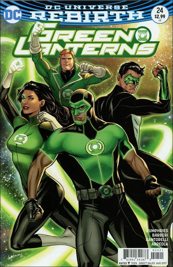Green Lanterns #24 Emanuela Lupacchino Variant Cover [2017] VF/NM DC Comics