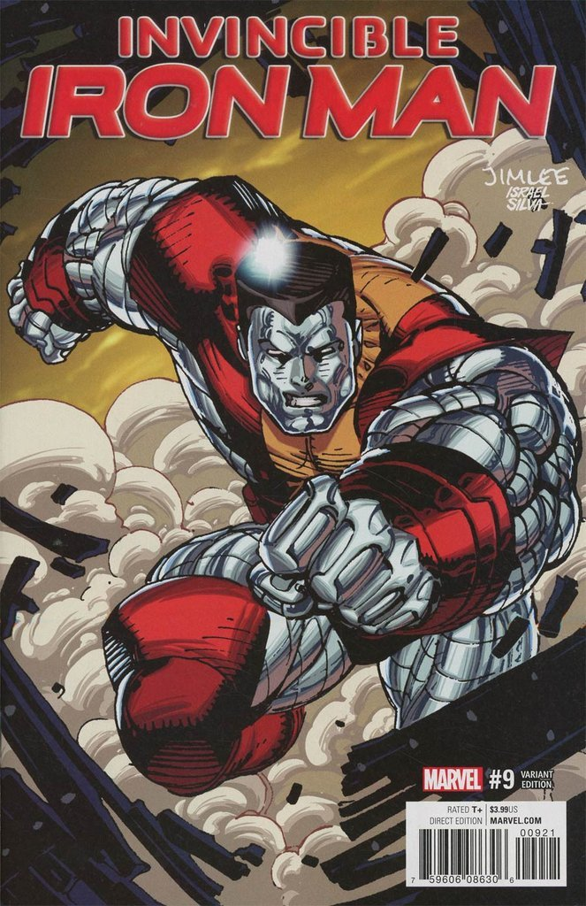Invincible Iron Man #9 Jim Lee X-Men Trading Card Variant Cover [2017] VF/NM Marvel Comics