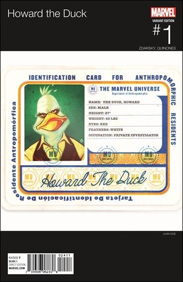 Howard the Duck #1 Juan Doe Hip Hop Variant Cover [2016] VF/NM Marvel Comics