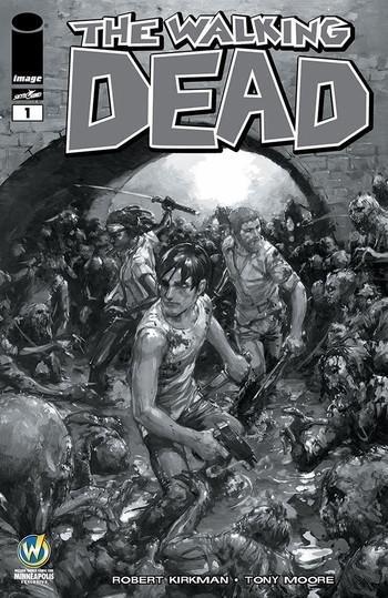 Walking Dead #1 Clayton Crain Wizard World Minneapolis Variant Cover [2015] VF/NM Image Comics