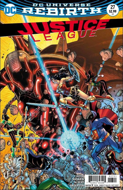 Justice League #27 Nick Bradshaw Variant Cover [2017] VF/NM DC Comics