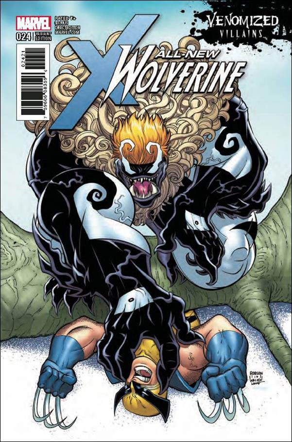 All-New Wolverine #24 Will Robson Venomized Variant Cover [2017] VF/NM Marvel Comics