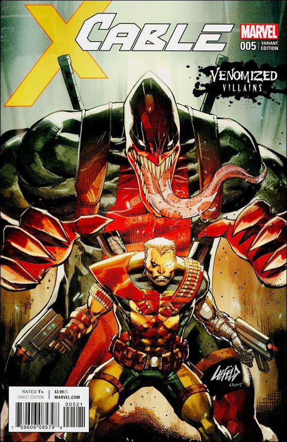 Cable #5 Rob Liefeld Venomized Villains Variant Cover [2017] VF/NM Marvel Comics
