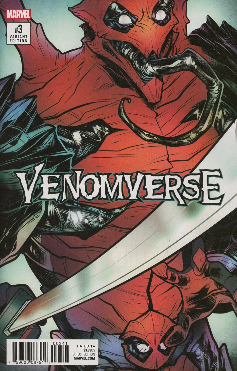 Venomverse #3 of 5 Elizabeth Torque Poison Variant Cover [2017] VF/NM Marvel Comics
