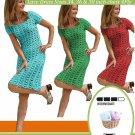VNK4 - Retro Ladies Crochet Dress in cotton 60's 70's