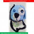 VKNC143 dog Baby Doggy style animal Hat Crochet Pattern NEW