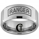 10mm Tungsten Carbide Legend of Ranger Laser Design Ring Sizes 4-17