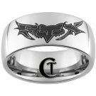 10mm Tungsten Carbide Fox Design Ring Sizes 4-17
