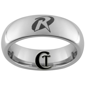 6mm Tungsten Carbide Domed Robin Design Ring Sizes 4-15