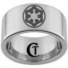 12mm Pipe Tungsten Carbide Laser Star Wars Empire Design Ring Sizes 5-15