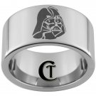 12mm Pipe Tungsten Carbide Laser Darth Vader Design Ring Sizes 5-15