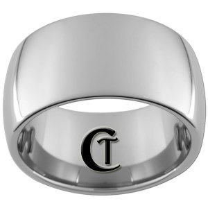 12mm Tungsten Carbide Band Dome Ring Sizes 5-15