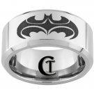 10mm Tungsten Carbide Batman And Robin Laser Design Ring Sizes 4-17
