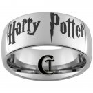 10mm Tungsten Carbide Domed Harry Potter Design Ring Sizes 4-17