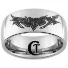 10mm Tungsten Carbide Fox Design Ring Sizes 4-17