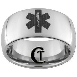 10mm Tungsten Carbide Medic Design Ring Sizes 4-17