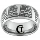 10mm Tungsten Carbide Laser ARMY Design Ring Sizes 4-17