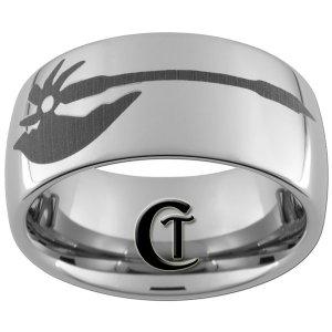 10mm Tungsten Carbide Tomahawk Design Ring Sizes 4-17