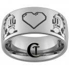 Mens Tungsten Ring 10mm Nintendo Dragon Design Ring Sizes 4-17