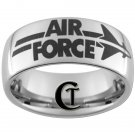 Tungsten Ring Mens 10mm Air Force Design Sizes 4-17