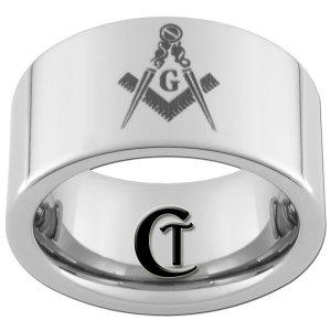 10mm Pipe Tungsten Carbide Freemason Master Mason Masonic Ring Sizes 4-17