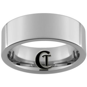 8mm Tungsten Carbide Pipe Band Ring Polished Finish Sizes 4-17