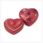 Beaded Heart Candle-36216