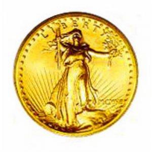 22k HGE gold coin UNC*1907 Mini St. Guaden $20 coin