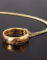 Lord Of The Rings-the One Ring of Power- Gold Plated New