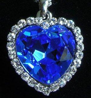 Titanic Heart of the Ocean Using Swaroki Crystal Heart