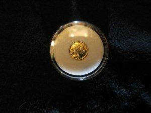 Mini Gold Coin-1938 BUFFALO Nickel mini HGE Gold