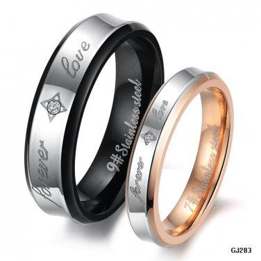 His & Hers BP, GP Titanium Couple Lover Rings