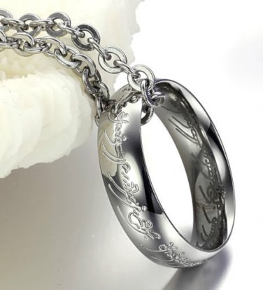 Lord of The Rings - Ring On Chain - Titanium Ring One size